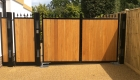 Metal and Wood Driveway Gates