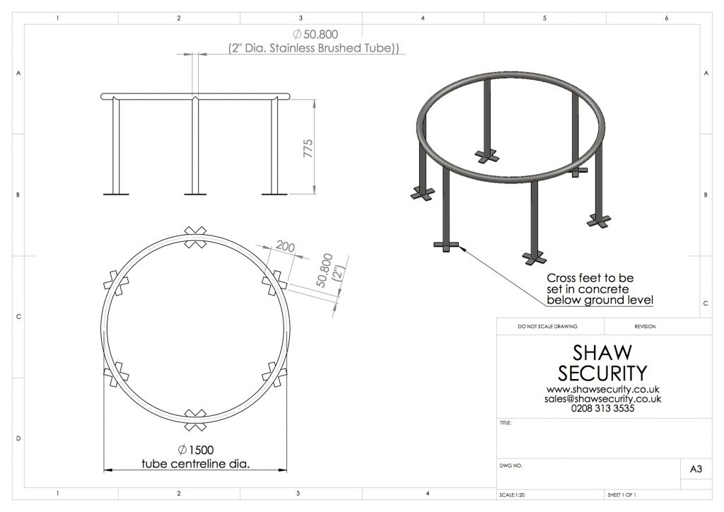 Cycle Stand Drawing