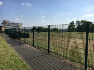 Perimeter Fencing Twin Wire in Green