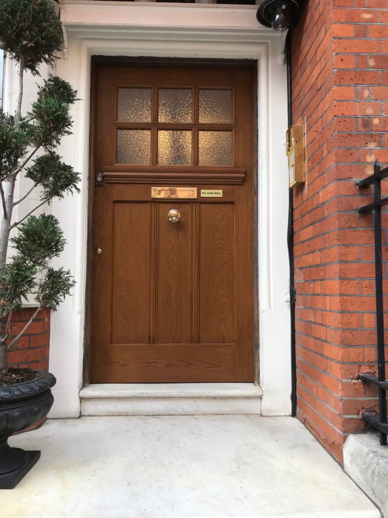 Carlos Place Oak Door Mayfair