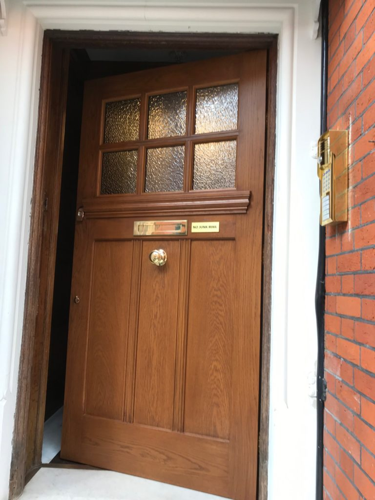Oak Front Door Mayfair W1