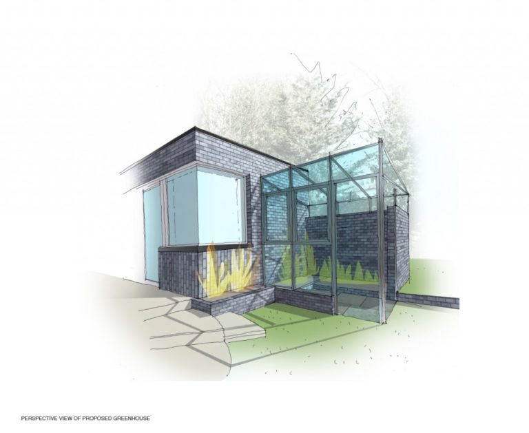 Bespoke Greenhouse Perspective View